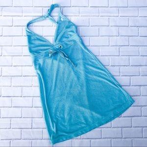 Ralph Lauren Turquoise Terry Cloth Halter Dress 👗